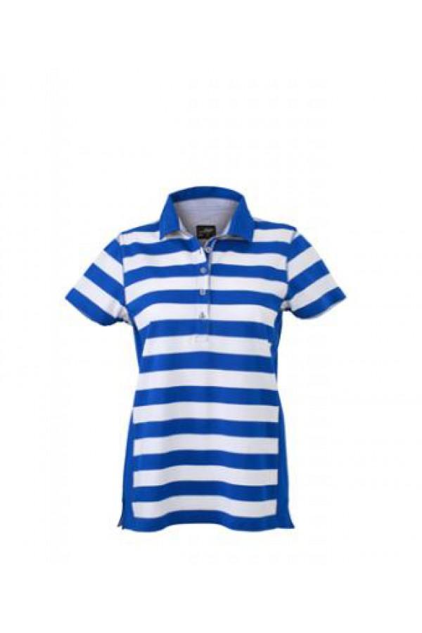 f520b307ef Taboo Hungary - James & Nicholson kék Csíkos női galléros póló